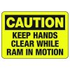 Baler Safety Signs - Caution Keep Hands Clear While Ram in Motion