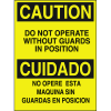 Bilingual Hazard Warning Labels - Caution Do Not Operate