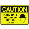 OSHA Caution Signs - Hard Hats Required In This Area