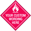 Custom Diamond Shaped Placard Signs