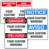 Custom English/Spanish Security Signs