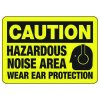 Caution Hazardous Noise Area With Graphic - Machine Safety Signs