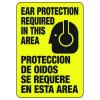 Bilingual Ear Protection Required With Graphic - Machine Safety Signs