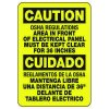 Bilingual Caution OSHA Regulations - Electrical Safety Signs