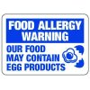 Food Allergy Warning May Contain Eggs - Food Allergy Signs