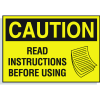 Hazard Warning Labels - Caution Read Instructions Before Using (With Graphic)