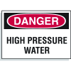 Hazard Warning Labels - Danger High Pressure Water