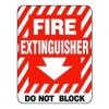Heavy-Duty Emergency Rescue & Evacuation Signs - Fire Extinguisher Do Not Block (with arrow)