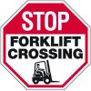 Stop Forklift Crossing (Graphic) - Forklift Signs