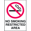 Graphic No Smoking Signs - No Smoking Restricted Area