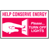 Instructional Labels - Help Conserve Energy Please Turn Off Lights