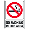 "No Smoking In This Area - 7""W x 10""H Interior Signs"