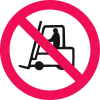 International Symbols Labels - No Forklift Trucks