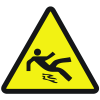 International Symbols Labels - Slippery Surface