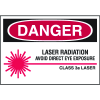 Laser Equipment Warning Labels - Danger Class 3A Laser