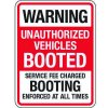 No Parking Signs - Warning Unauthorized Vehicles Booted