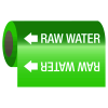 Self-Adhesive Pipe Markers-On-A-Roll - Raw Water