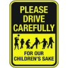 Reflective Pedestrian Signs - Please Drive Carefully