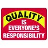 Quality Is Everyone's Responsibility - Safety Reminder Signs
