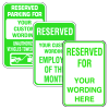 Custom Aluminum Reserved Parking Signs