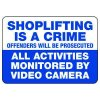 Shoplifting Is A Crime Offenders Prosecuted - Employee Theft Signs
