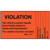 Illegal Parking Violation Labels - This Vehicle is Parked Illegally