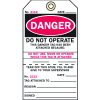 2-Part Production Status Tags - Danger