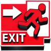 3D Floor Marker - Exit Right