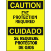 Bilingual Safety Signs - Caution Eye Protection Required
