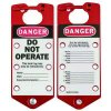 Brady Labeled Danger Do Not Operate Aluminum Lockout Hasps (65960) - 5PK