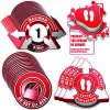 3D Social Distancing Label Kit for Alternating Bus Seats - Red