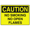 OSHA Caution Signs - No Smoking No Open Flames
