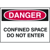 Confined Space Labels - Danger Confined Space Do Not Enter