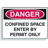 Confined Space Signs - Danger Enter By Permit Only