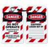 Danger Do Not Operate Maintenance - Lockout Tag, Plastic