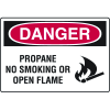 Danger Signs - Propane No Smoking Or Open Flame