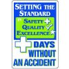 Dry Erase Safety Tracker Signs - Setting The Standard __ Days Without An Accident