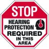 Stop Hearing Protection Required - Ear Protection Sign