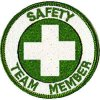 Safety Team Member Embroidered Patch