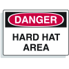 Extra Large OSHA Signs - Danger Hard Hat Area