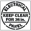 Large Floor Stencils - Electrical Panel, Keep Clear For 36in