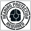 Large Floor Stencils - Hearing Protection Required