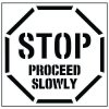 Large Floor Stencils - STOP, Proceed Slowly
