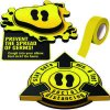 3D Social Distancing Label Kit for Foyers - Yellow