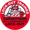 Safety Training Labels - Bilingual - Lock Out Trained