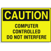 Hazard Warning Labels - Caution Computer Controlled Do Not Interfere