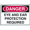 Hazard Warning Labels - Danger Eye And Ear Protection Required