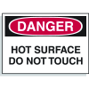 Hazard Warning Labels - Danger Hot Surface Do Not Touch
