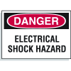 Hazard Warning Labels - Danger Electrical Shock Hazard