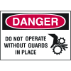 Danger Labels - Do Not Operate Without Guards in Place (Symbol)